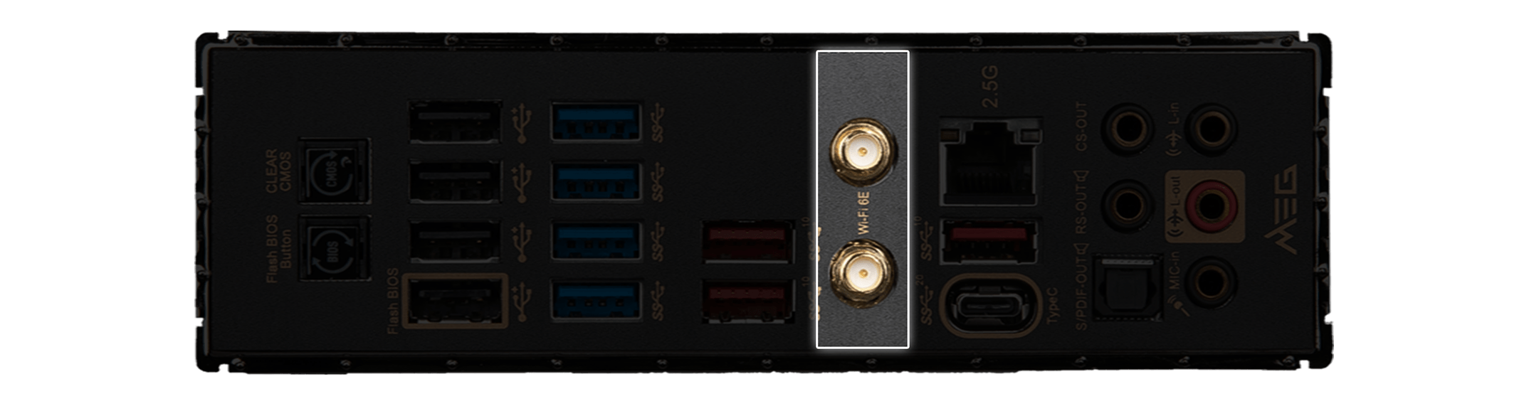 MSI X570S Motherboard Faster Wi-Fi 6E