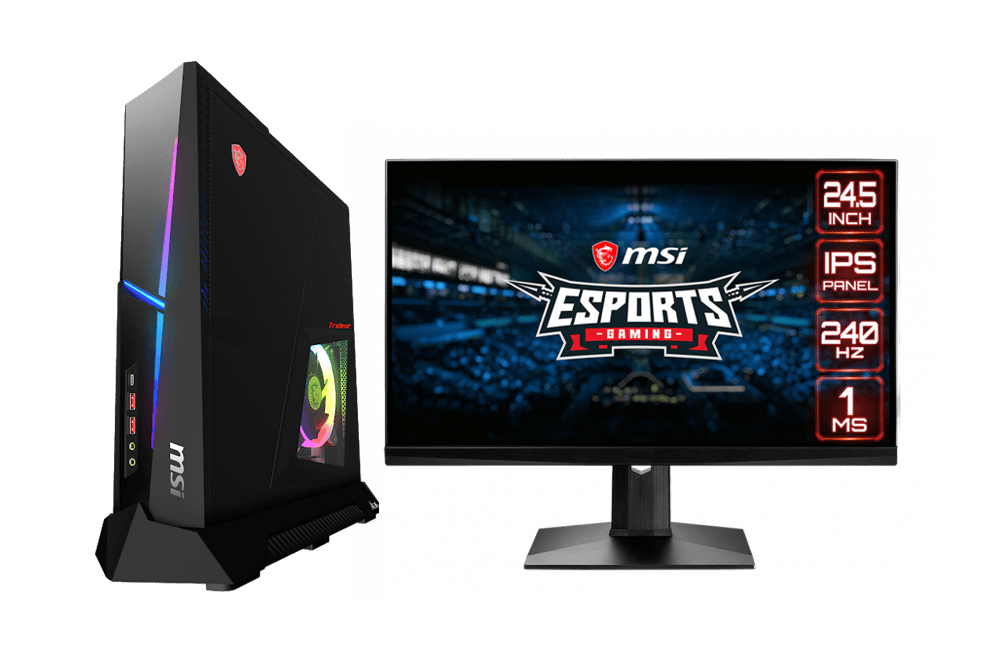 MSI Trident X and MAG251RX