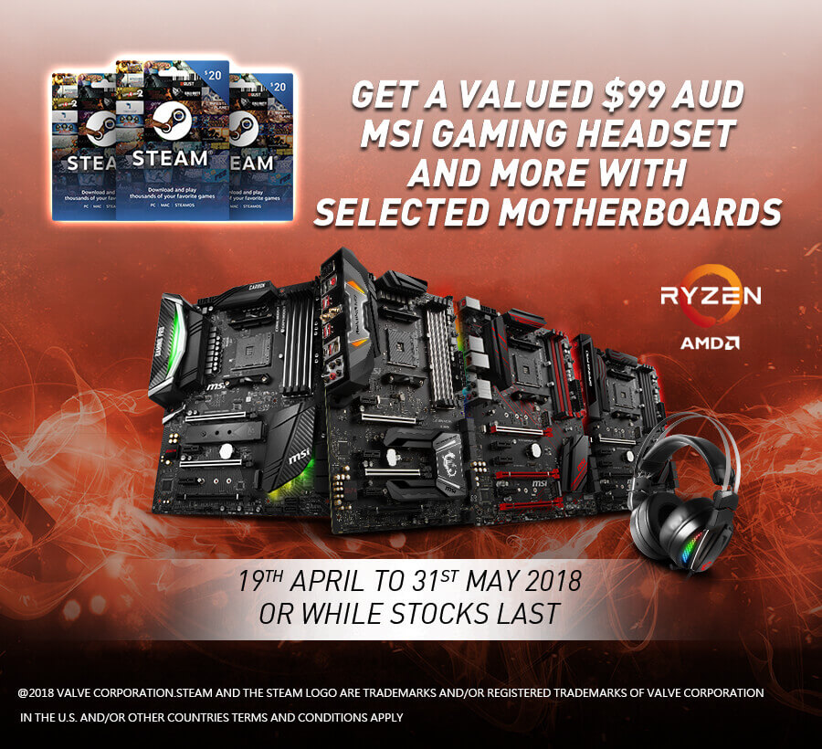 $20 USD STEAM WALLET CODE PROMOTION | MSI Australia