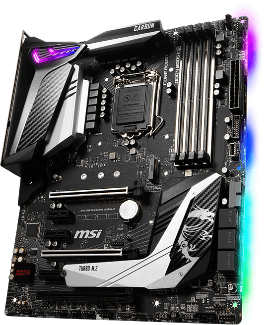 MSI MPG Z390 GAMING PRO CARBON AC OVERVIEW