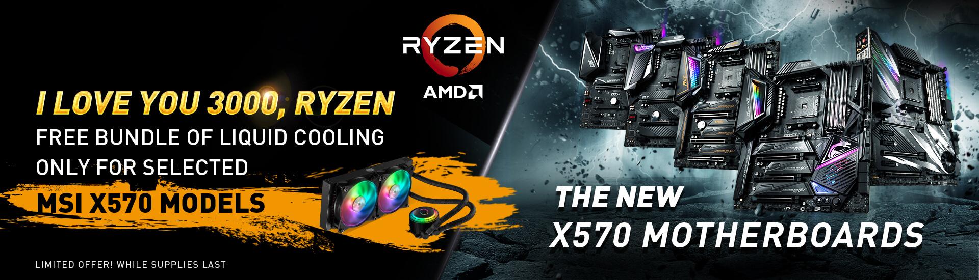 I Love you 3000 Ryzen | AMD 3rd Gen, X570 AM4 Motherboard