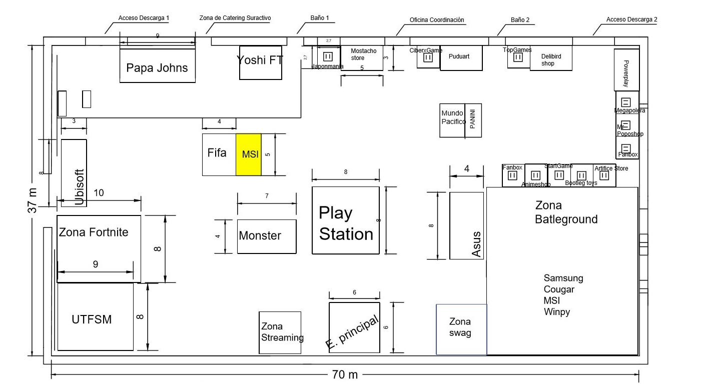 layout ceneral expogame 2019  msi location