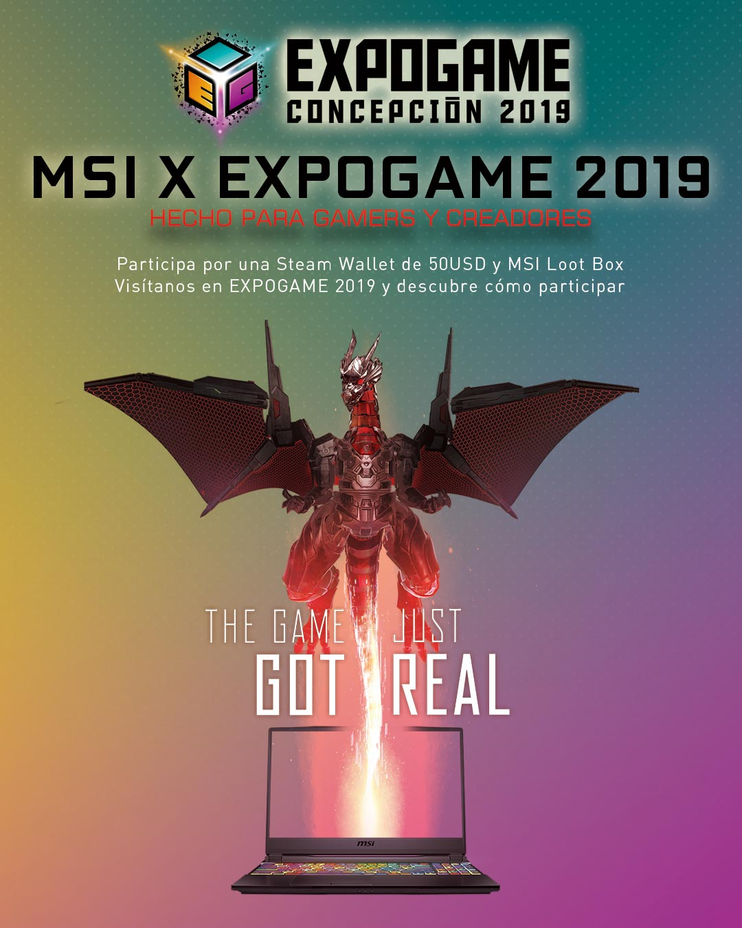 msi x expogame 2019 event banner for mobile