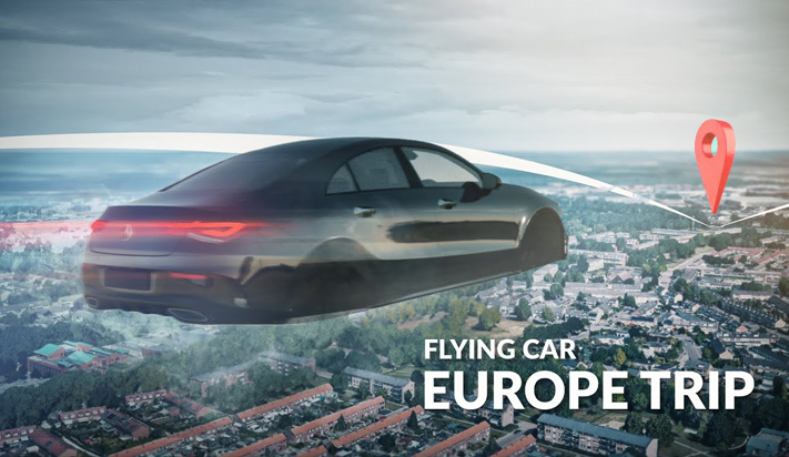 FLYING My Car Around Europe - Ultimate VFX Road Trip