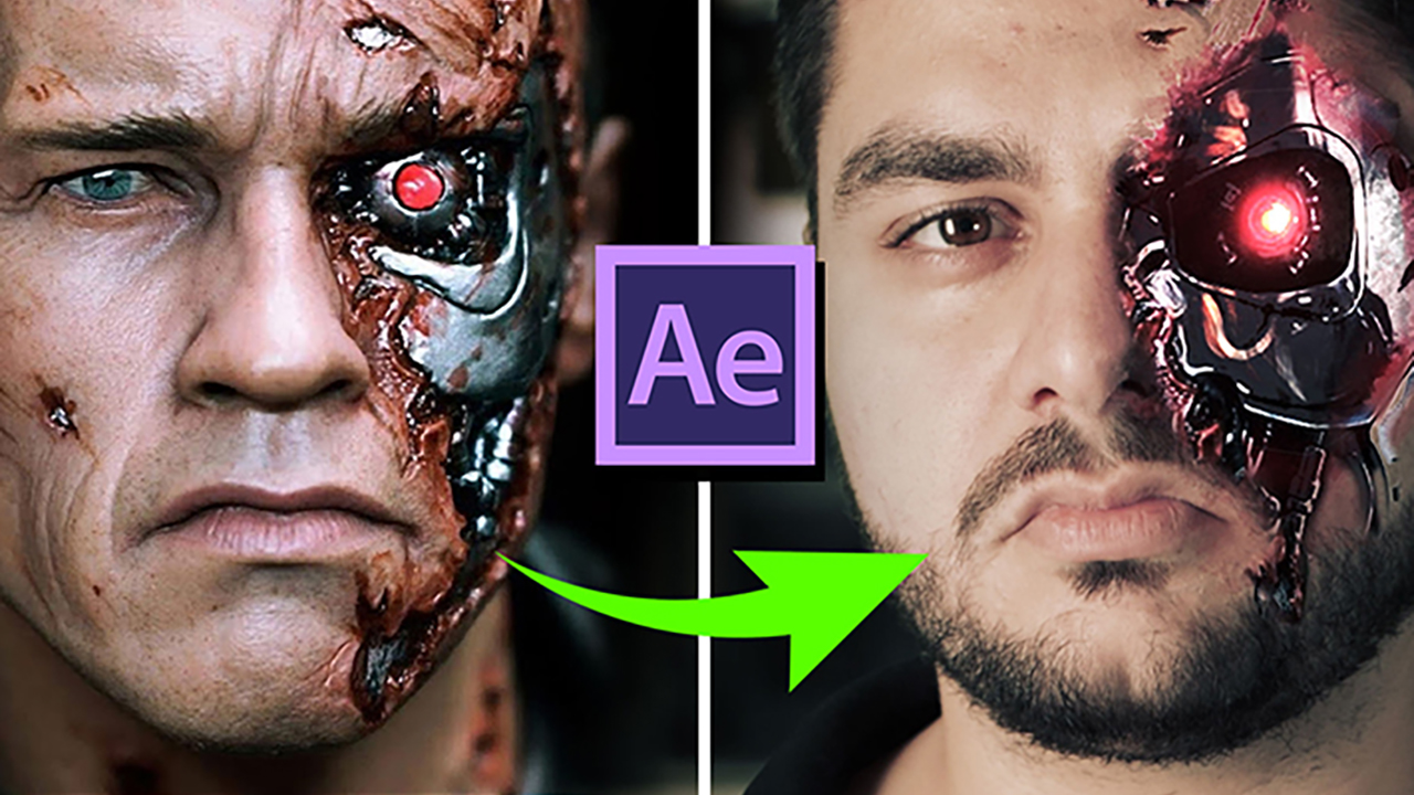 Terminator Face in After Effects Tutorial using Lockdown