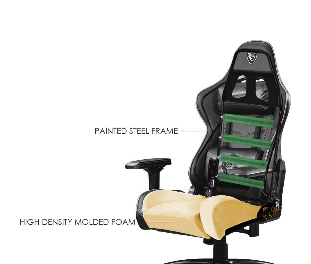 msi ch120 i gaming chair steel frame