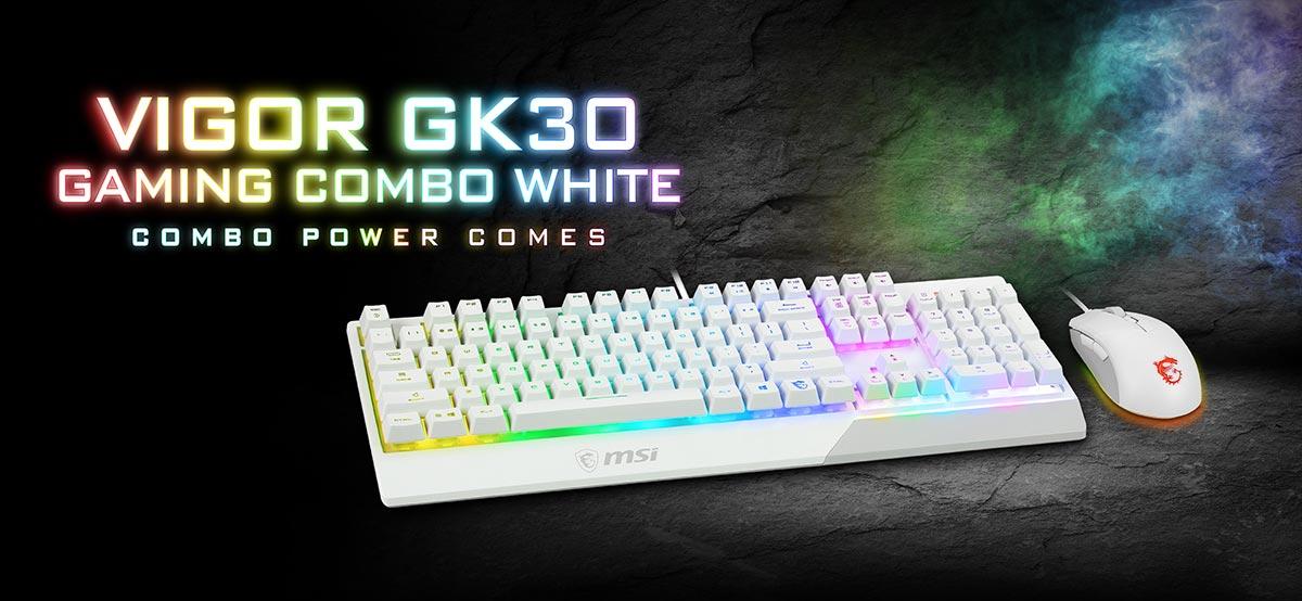 msi gk30 white banner