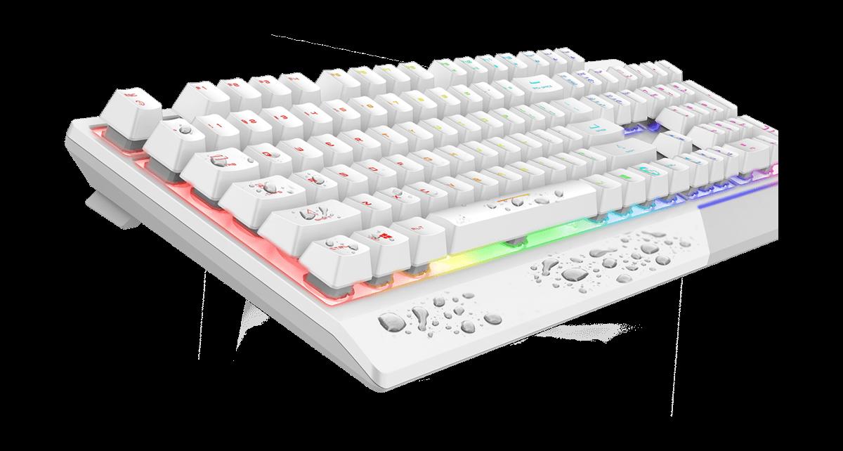 msi gk30 white keyboard easy to clean
