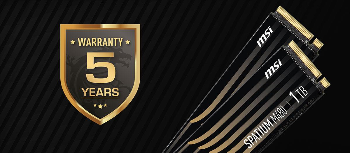 warranty 480 5 years