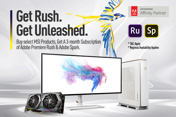 Msi promotion get rush get unleashed