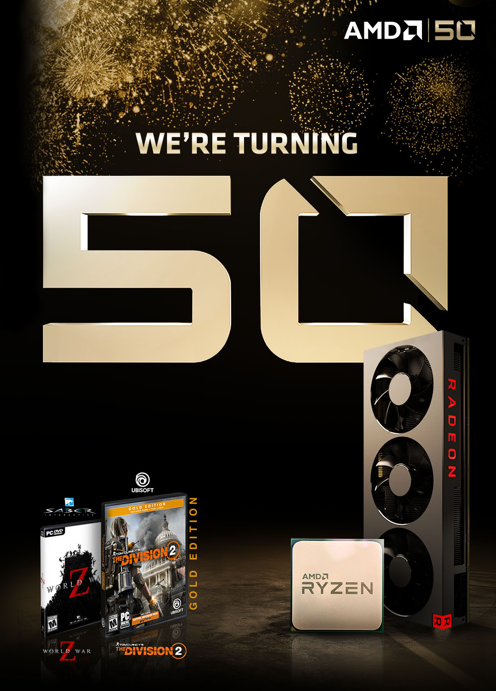 AMD 50 LEGENDARY YEARS  2 FREE GAMES