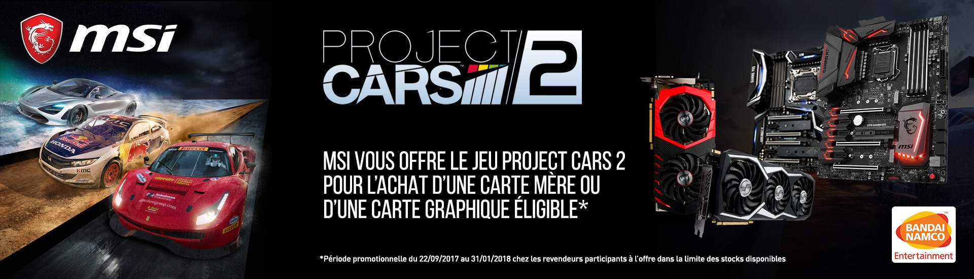 Offre exclusive Project CARS 2