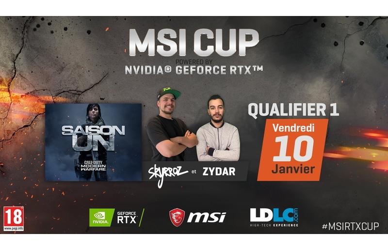 MSI et NVIDIA s'associent pour dévoiler la MSI CUP powered by NVIDIA Geforce RTX, un tournoi Call Of Duty: Modern Warfare présenté par Skyrroz