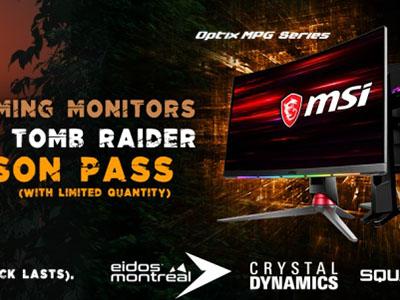 Offre Shadow of the Tomb Raider <br>Pour l'achat d'un moniteur éligible, MSI vous offre le jeu Shadow of the Tomb Raider et son season pass