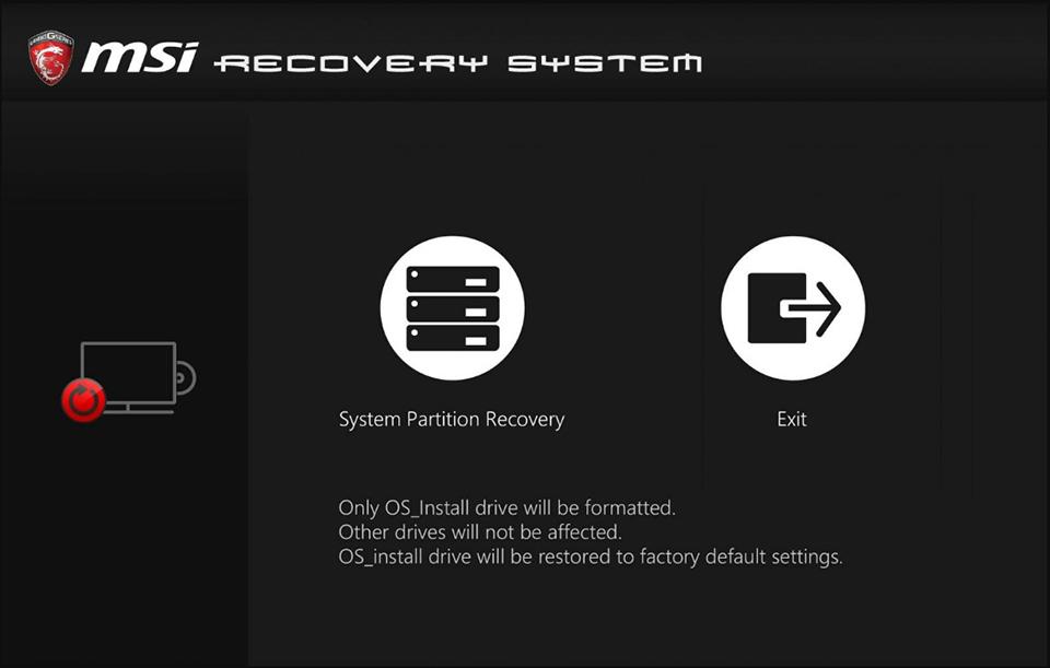 os recovery fail