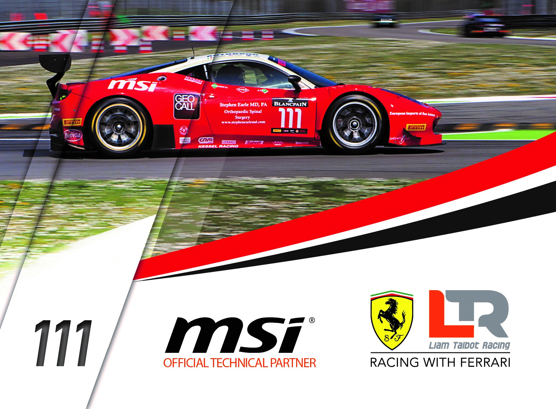 MSI and Liam Talbot Racing
