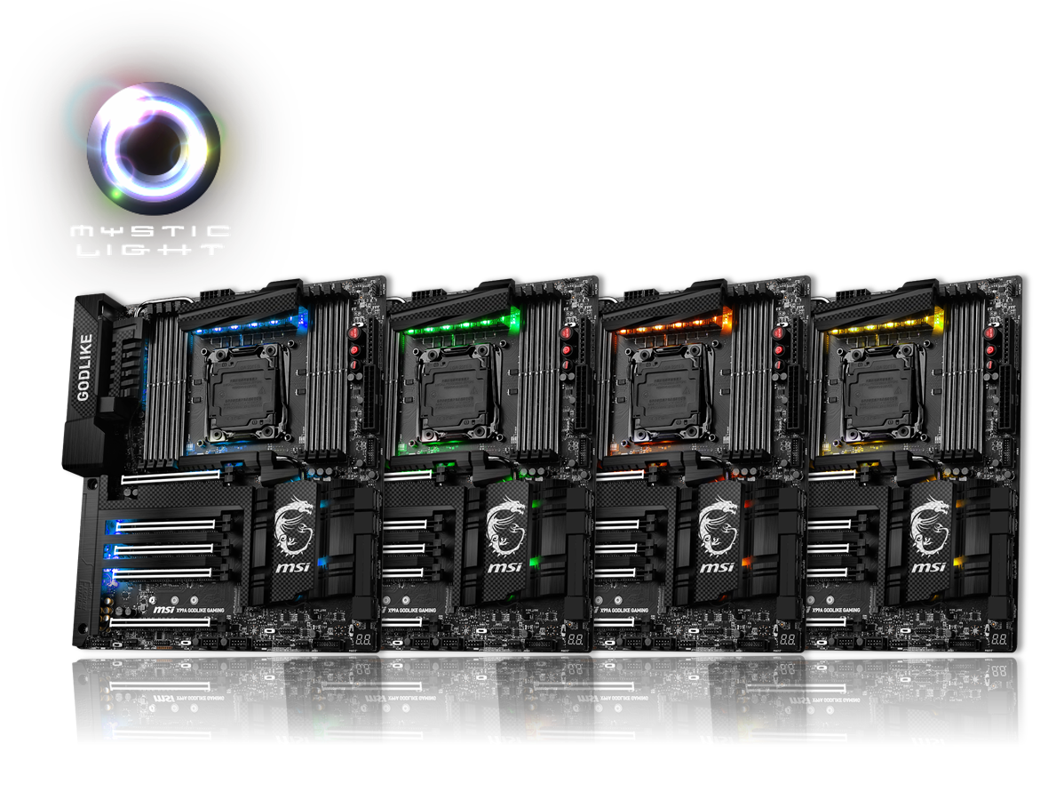 Customize your gaming rig with CARBON motherboards featuring Mystic Light