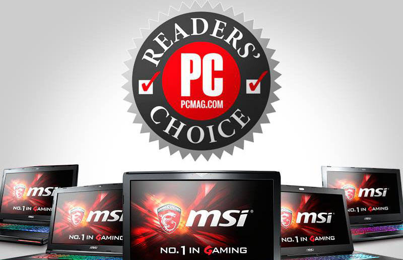 PCMag empfiehlt MSI Gaming Notebooks