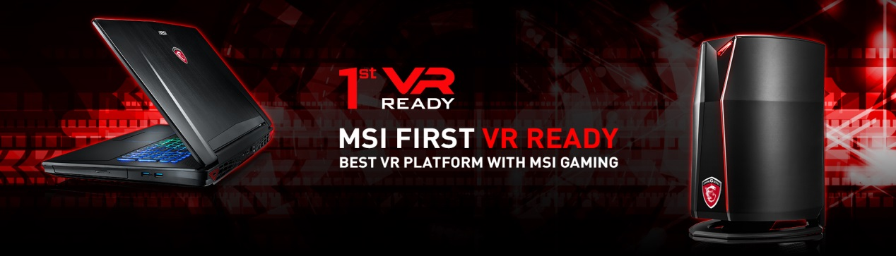 MSI laptop is your first choose for VR gaming