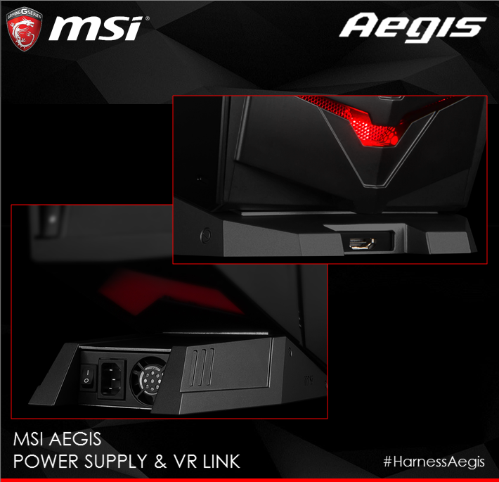MSI Aegis - Netzteil und VR-Potenzial