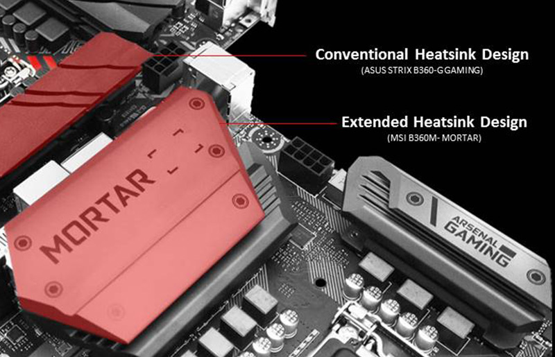 MSI vs. ASUS | MSI's All-new Motherboard Extended Heatsink Design