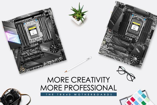 ¿Qué es lo más poderoso para Creativos? Nos enfocamos en las placas madre MSI TRX40.