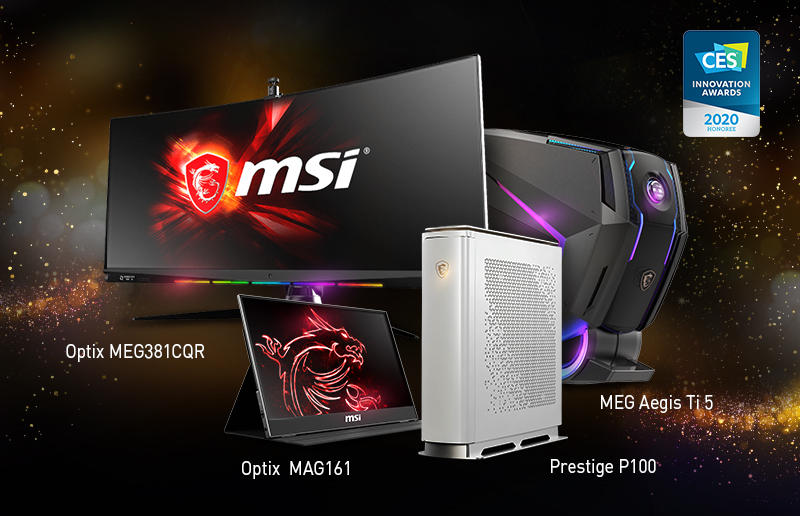 CES 2020 Round-up: MSI's Products Sweep Several Innovation Award Honors Once Again