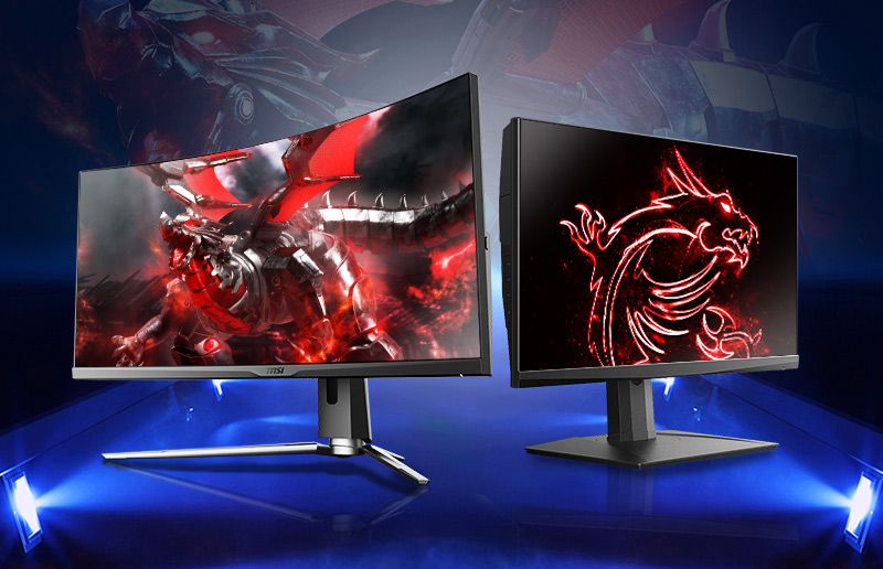 MSI CES 2021 New Monitors - Oculux NXG253R & MPG ARTYMIS 343CQR
