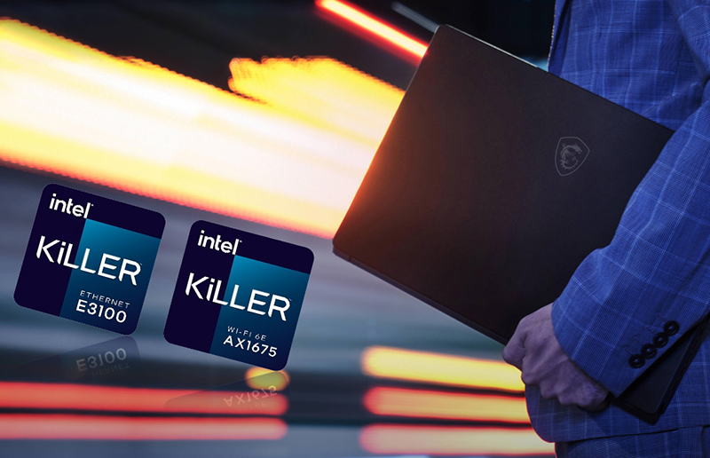 Killer DoubleShot Pro and Wireless xTend for Killer E3100G with Killer Wi-Fi 6E AX1675