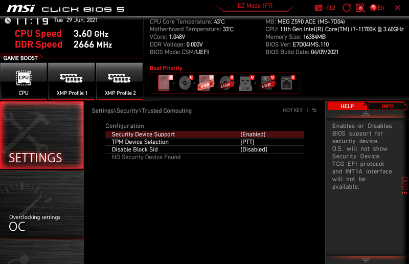 How to Enable TPM on MSI Motherboards Featuring TPM 2.0