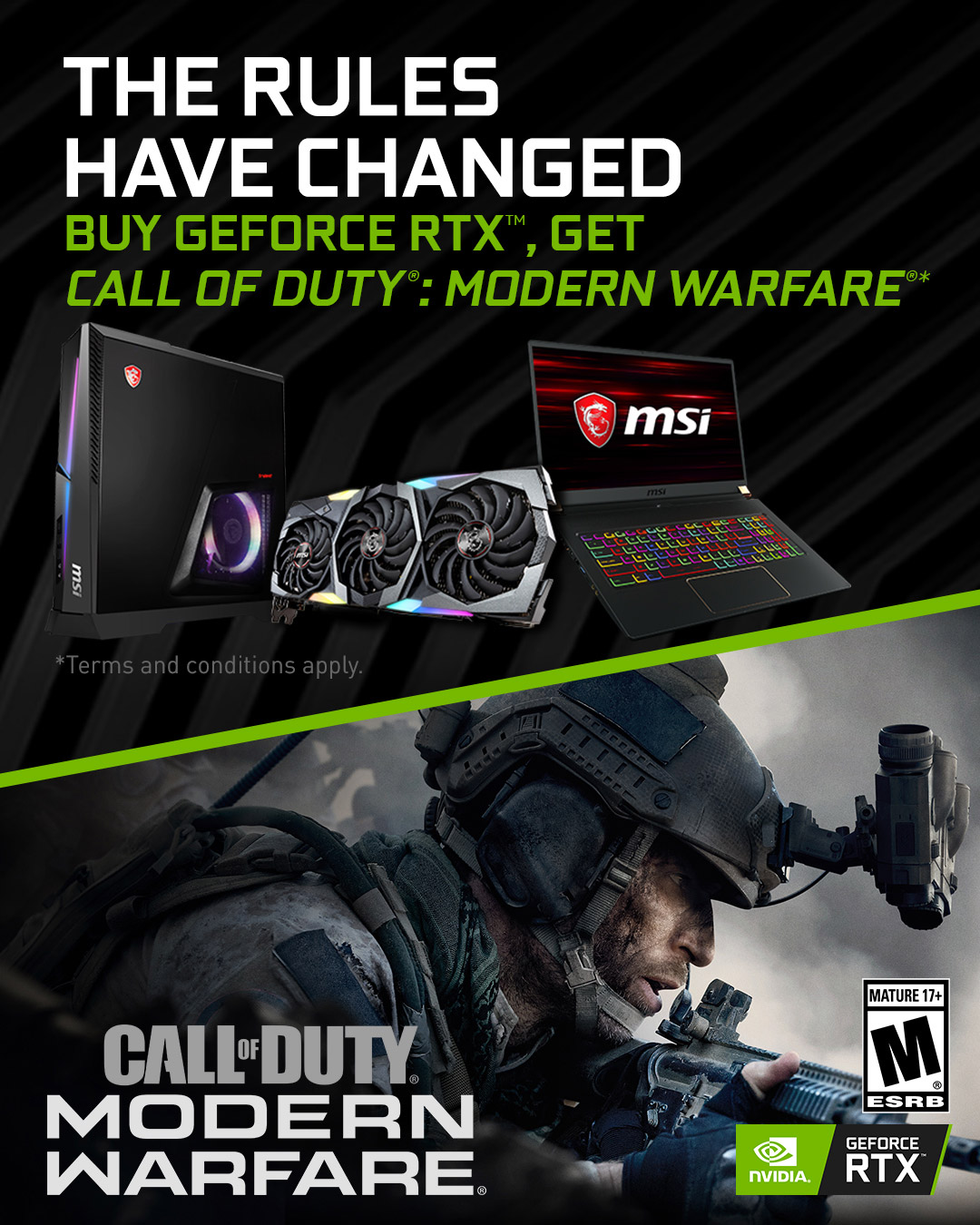 Call of Duty Modern Warfare x MSI
