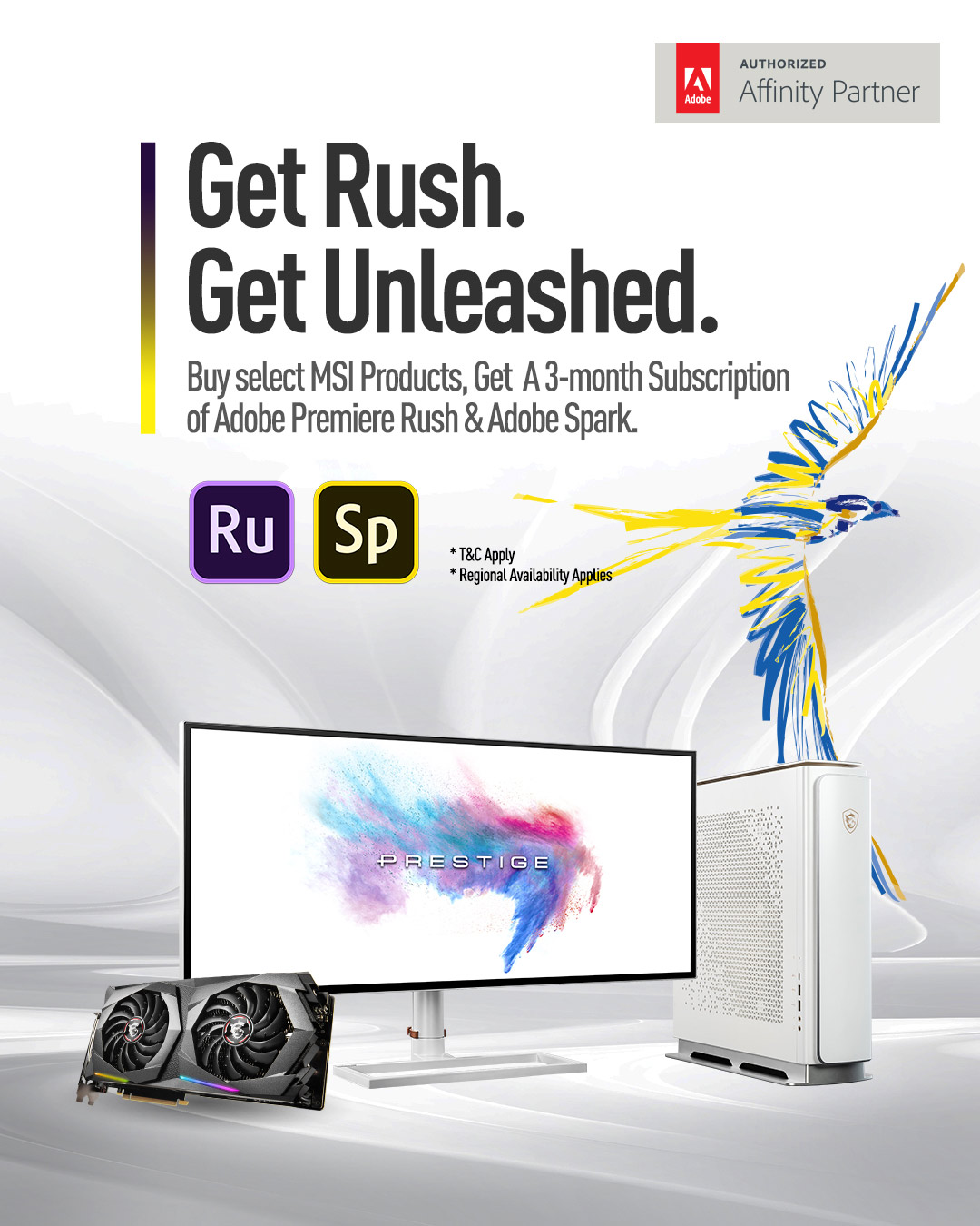 Get Rush. Get Unleashec.
