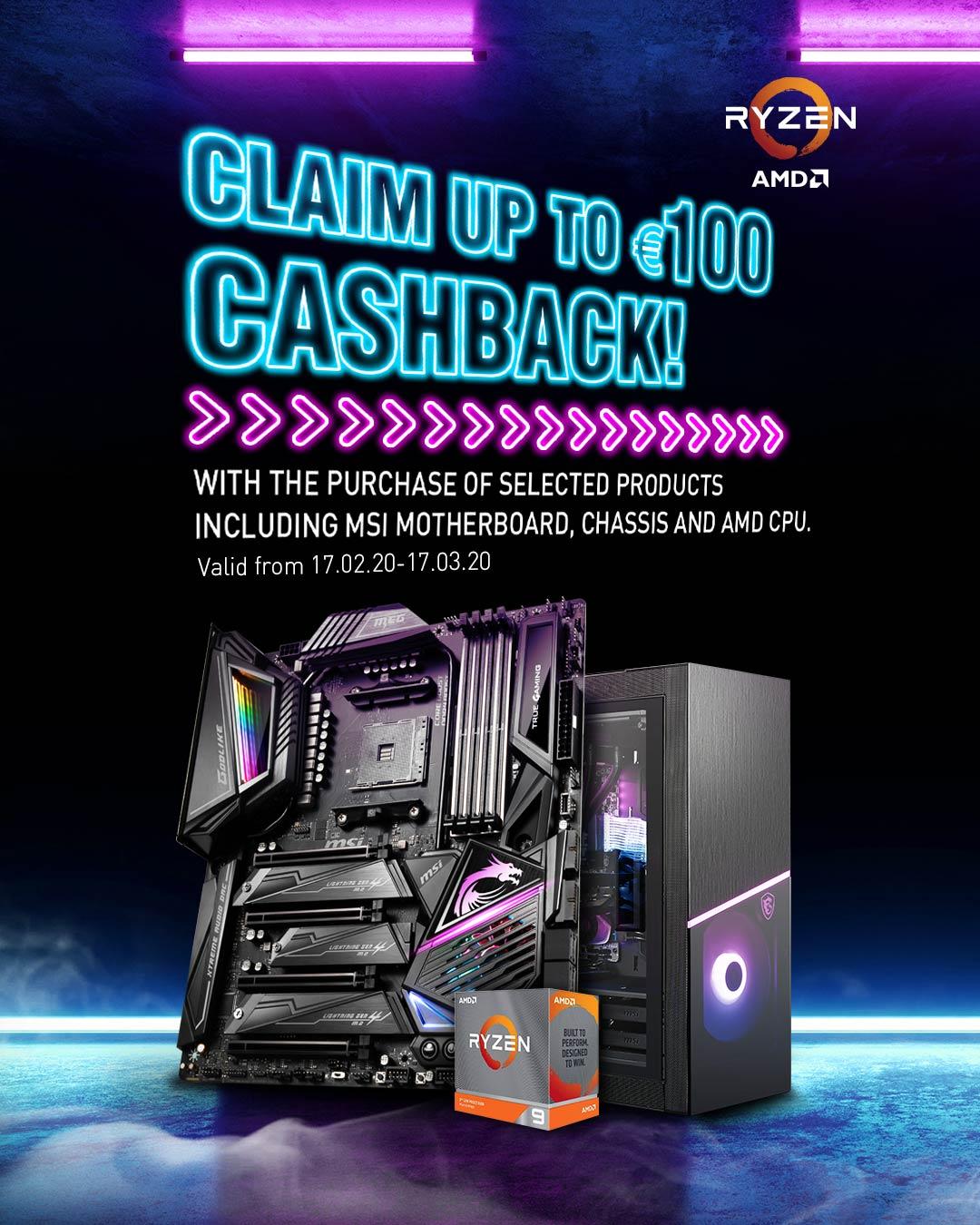 Claim up to €100 cashback