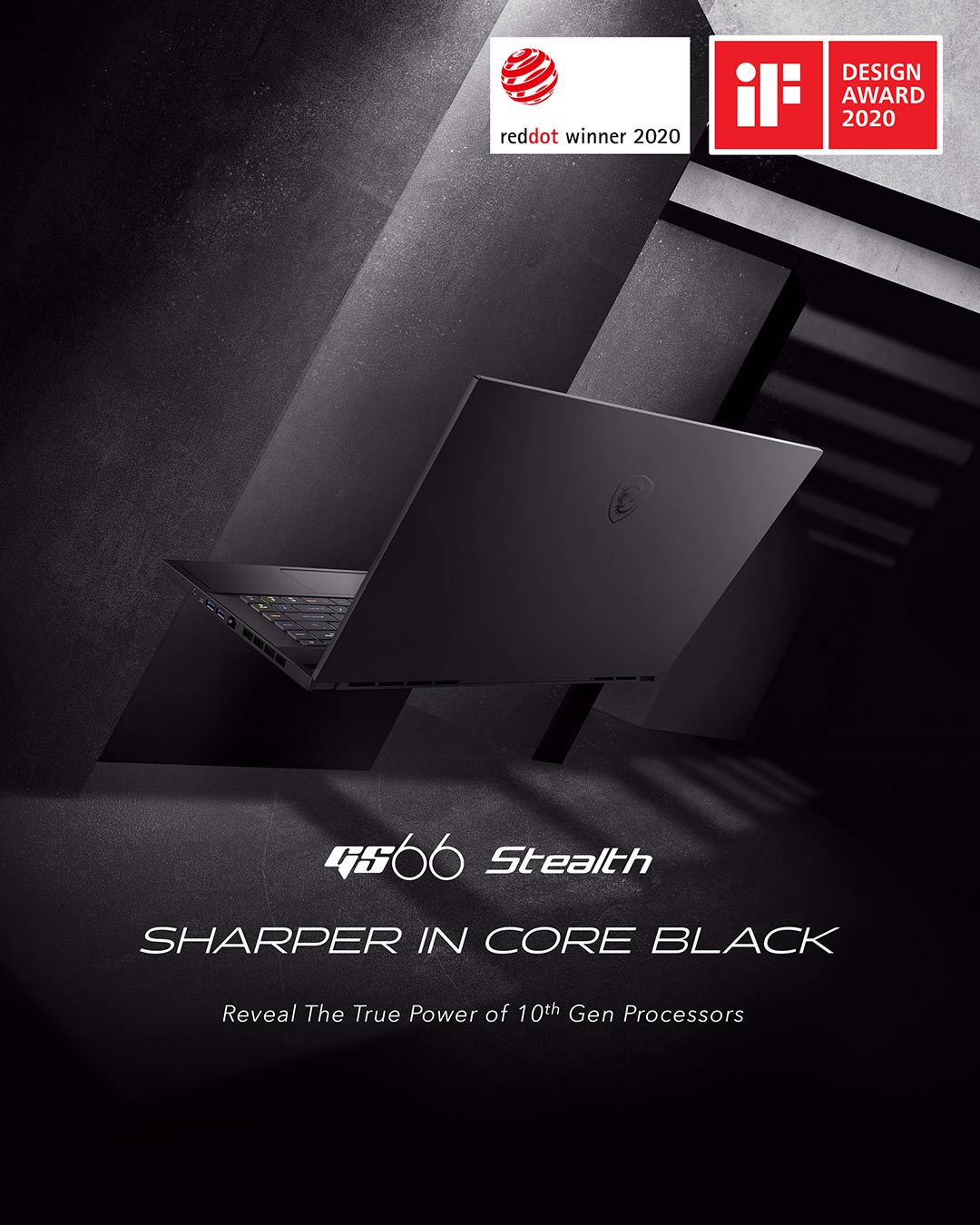 GS66 STEALTH SHARPER IN CORE BLACK