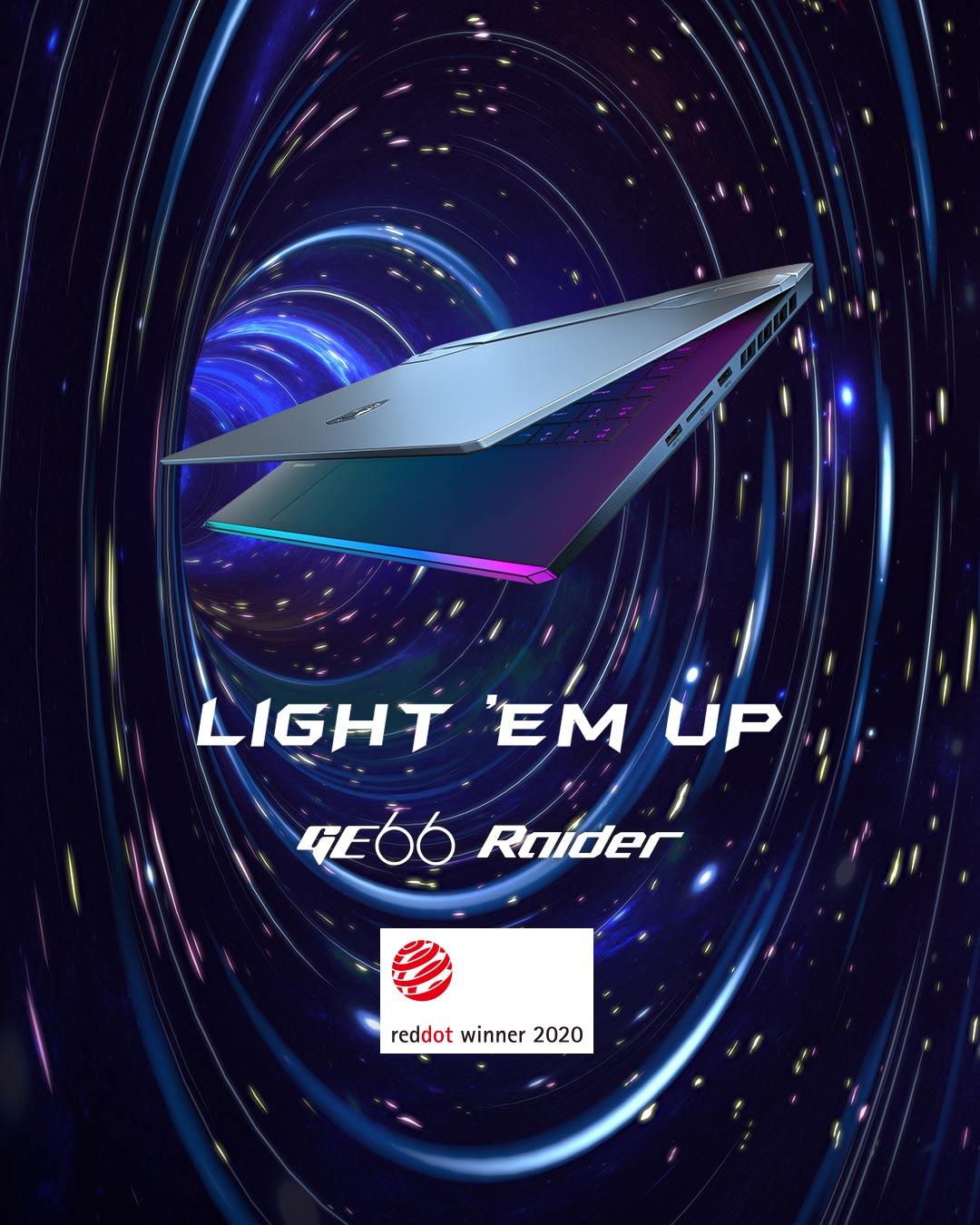 GE66 RAIDER LIGH'EM UP