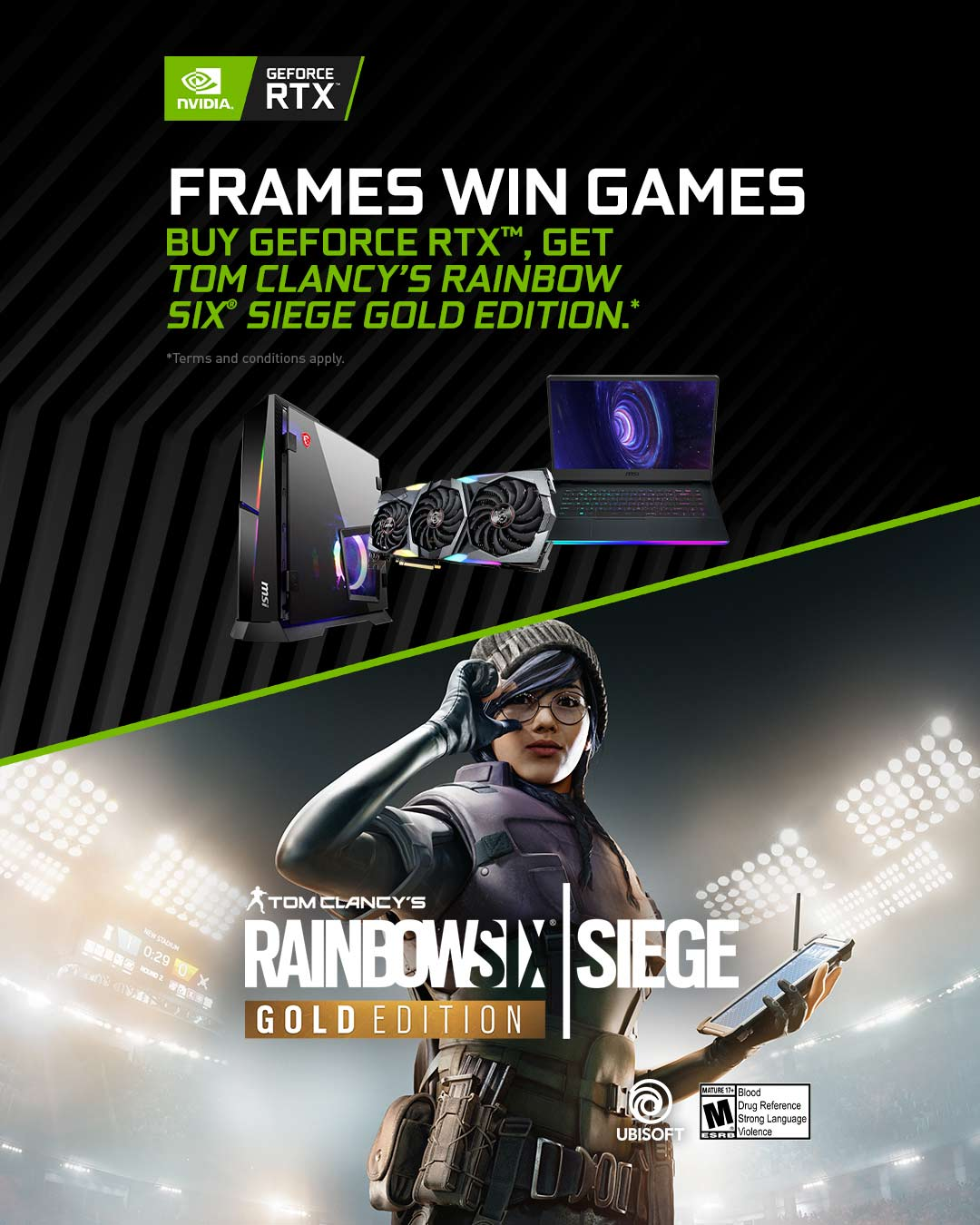 NV RTX Game Bundle: Frames win games R6S