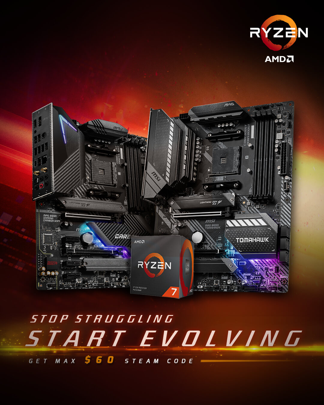 B550 + AMD CPU promotion