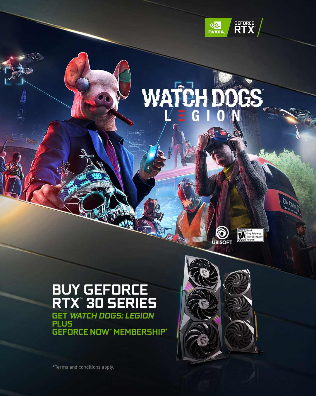 Watch Dogs Legion plus GeForce NOW
