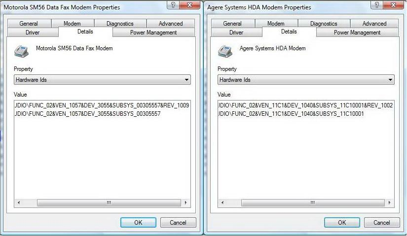 NEW DRIVERS: AGERE SYSTEMS HDA MODEM