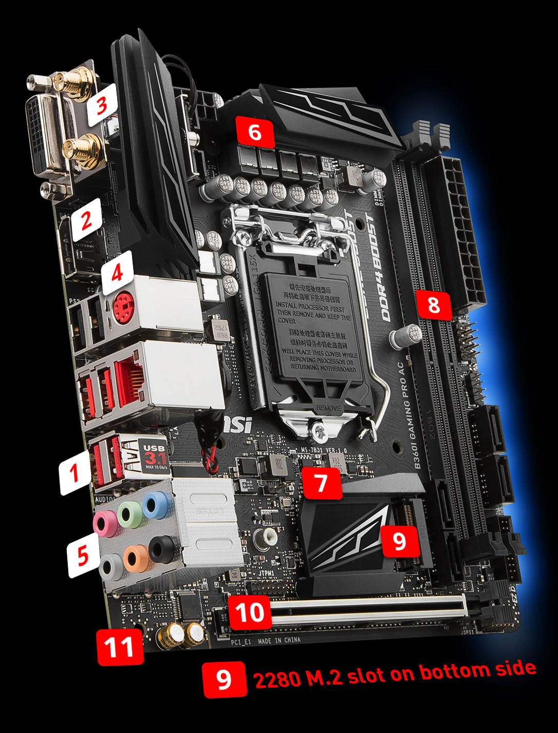 B360I GAMING PRO AC | Motherboard - The world leader in