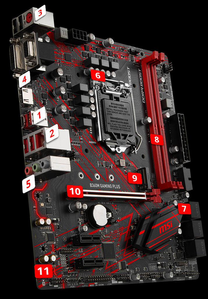 B360M GAMING PLUS | Motherboard - The world leader in