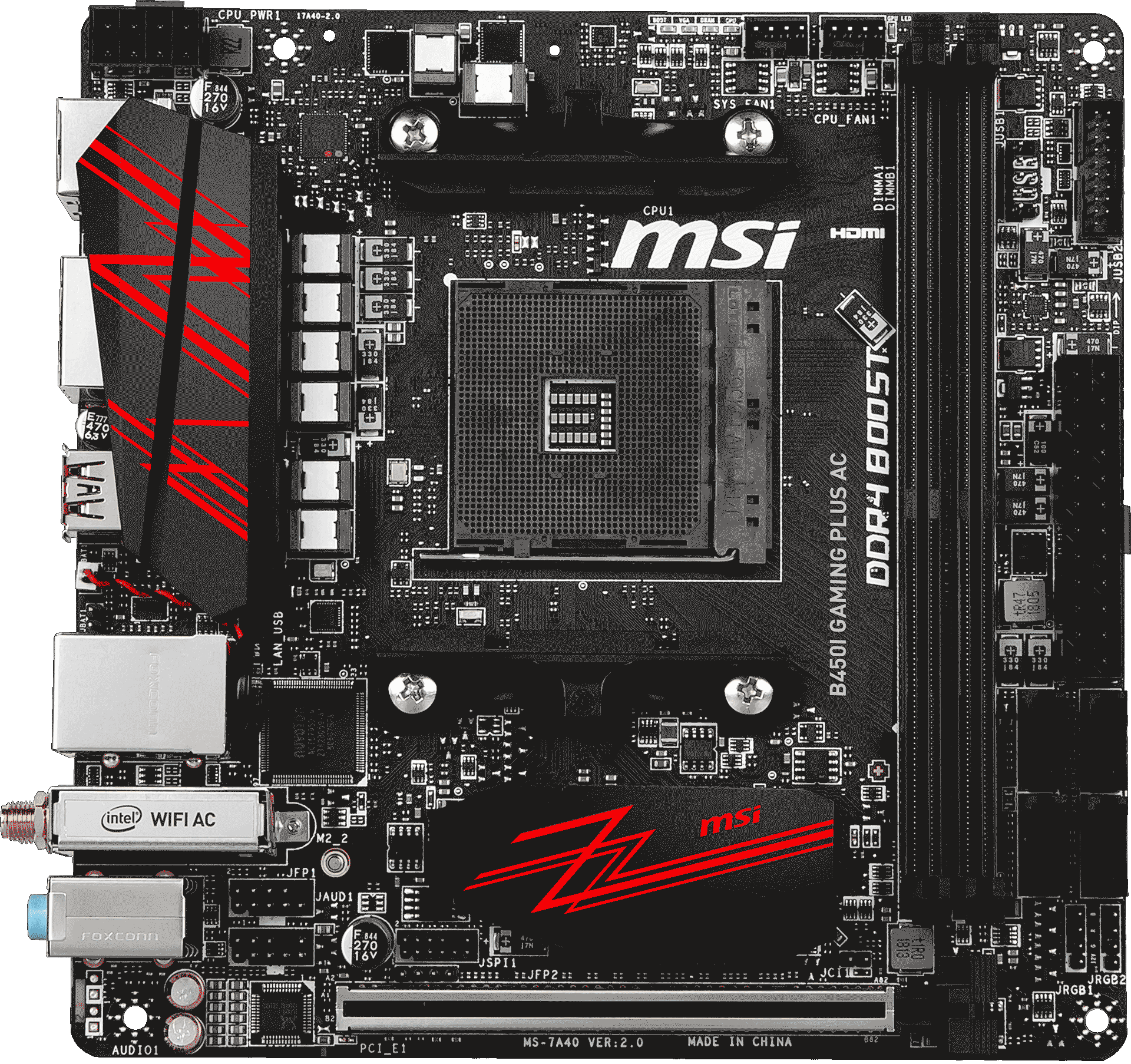 B450I GAMING PLUS AC | Motherboard - The world leader in motherboard