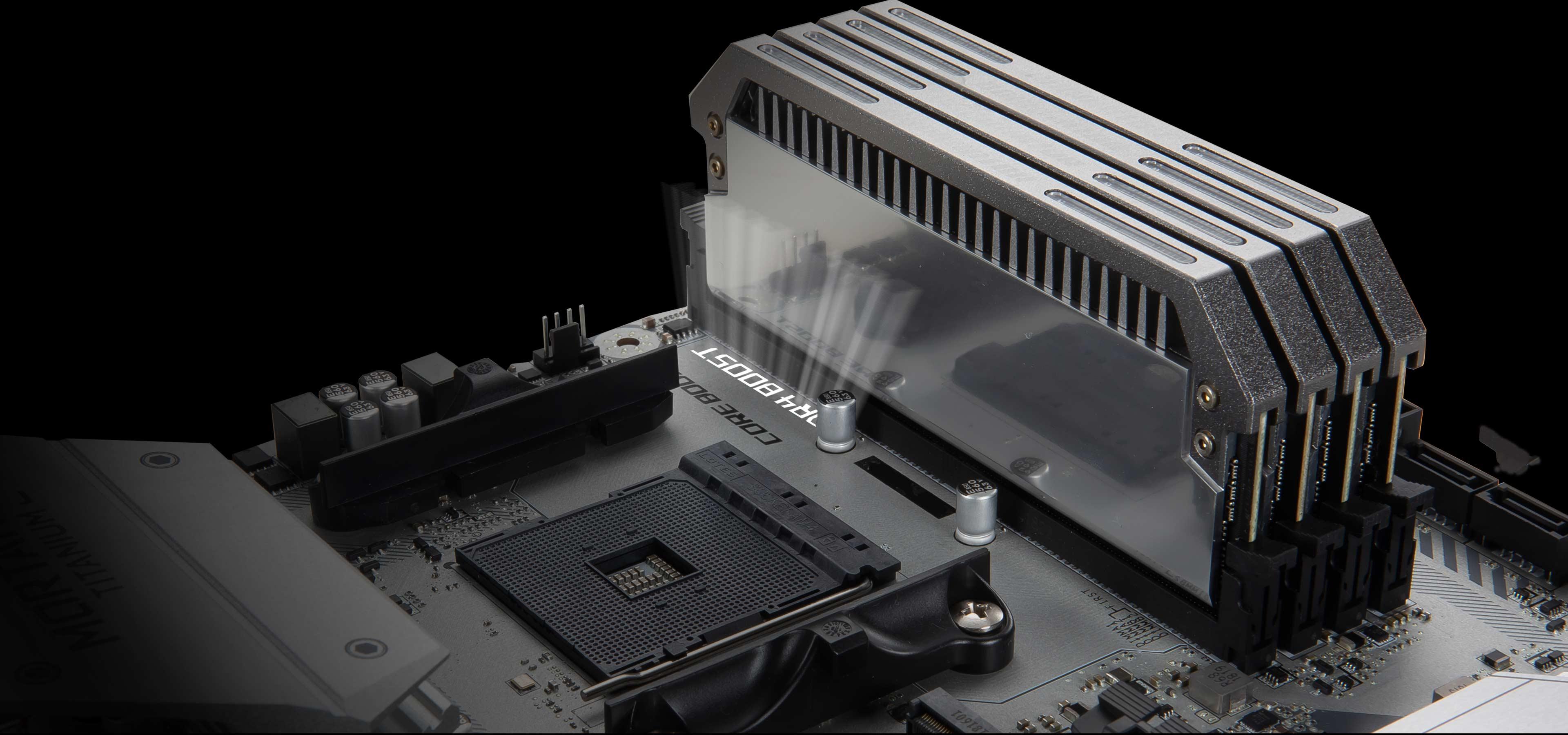 MSI B450M MORTAR TITANIUM Socket AM4 DDR4 USB3.1 AMD B450 Micro ATX Motherboard