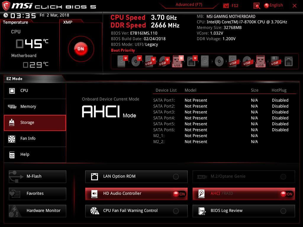 MSI H310 LGA 1151 DDR4 Onboard Graphics Micro ATX Motherboard