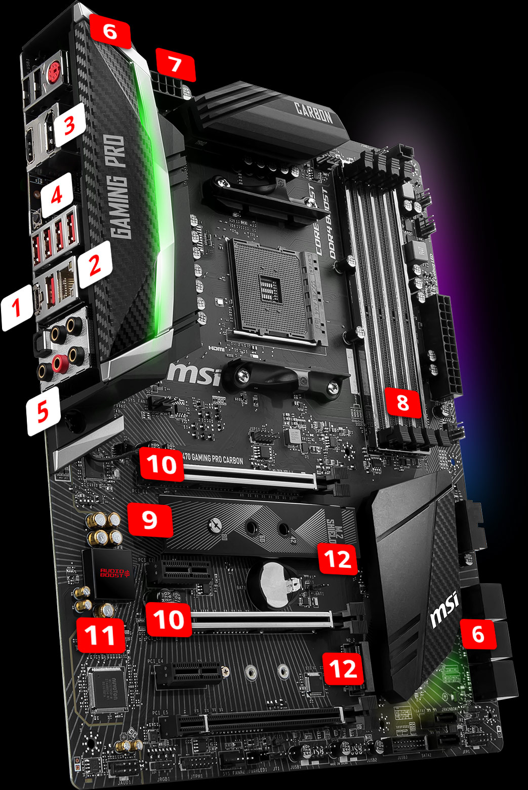 X470 GAMING PRO CARBON | Motherboard - The world leader in