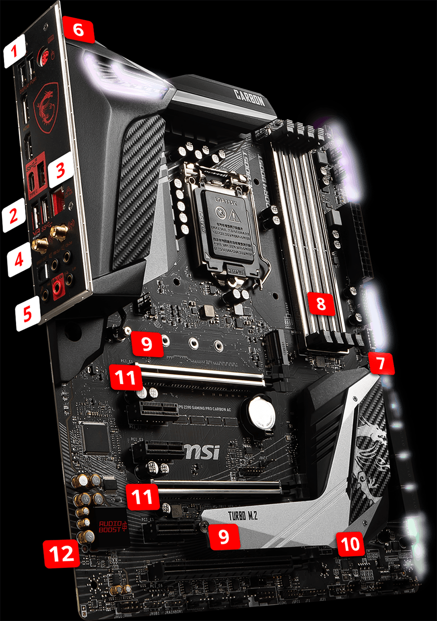 Motherboards Mpg Z390 Gaming Pro Carbon Ac