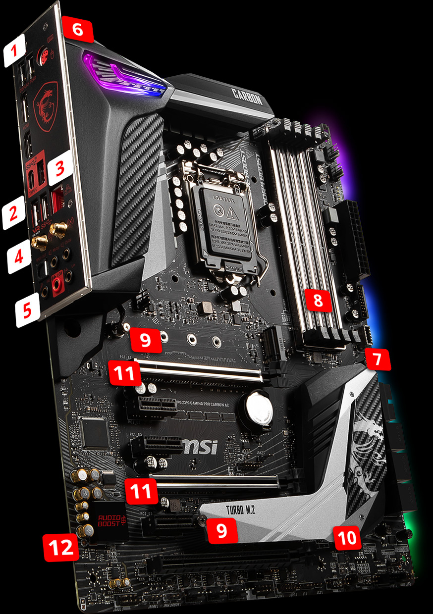 MPG Z390 GAMING PRO CARBON AC | Motherboard - The world