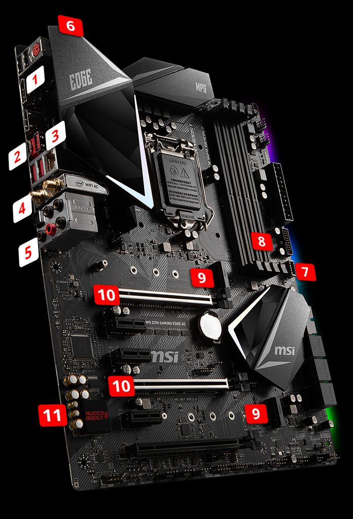 MPG Z390 GAMING EDGE AC | Motherboard - The world leader in