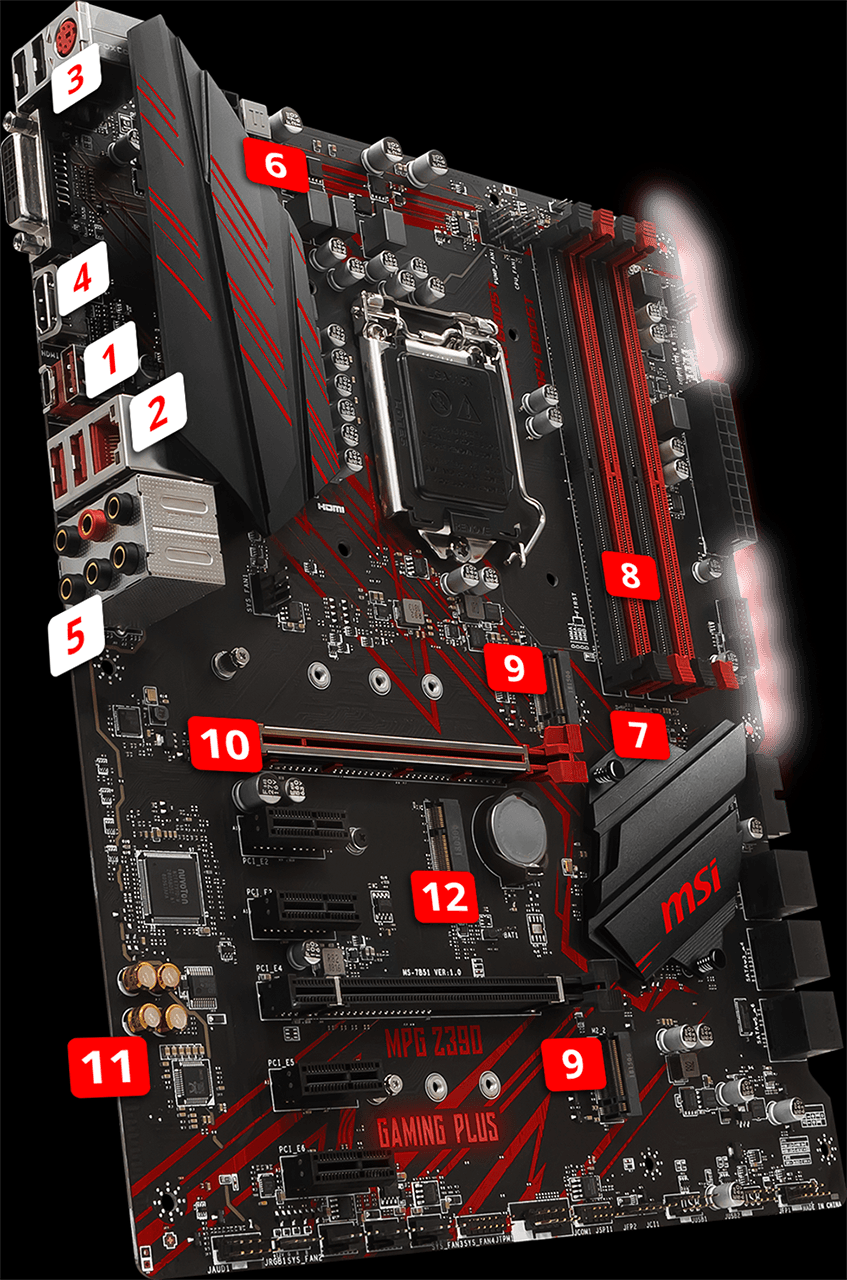 MPG Z390 GAMING PLUS | Motherboard - The world leader in motherboard