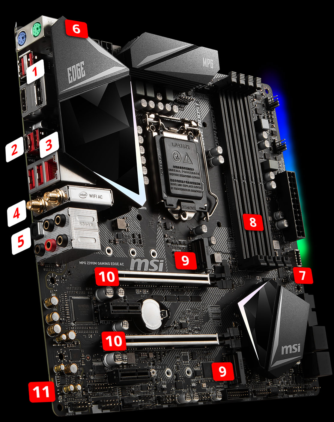 MPG Z390M GAMING EDGE AC | Motherboard - The world leader in
